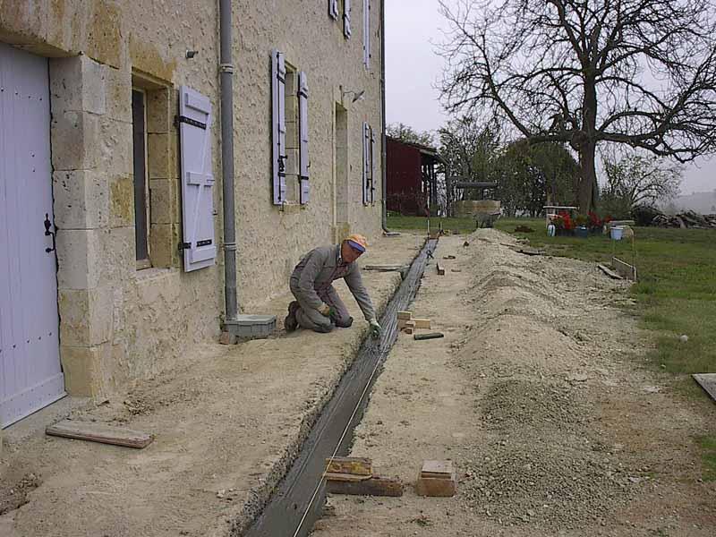 La s quence des v nements octobre 2007 for Beton coule en place